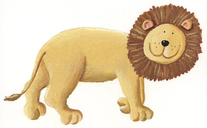 Marche de lion illustration stock