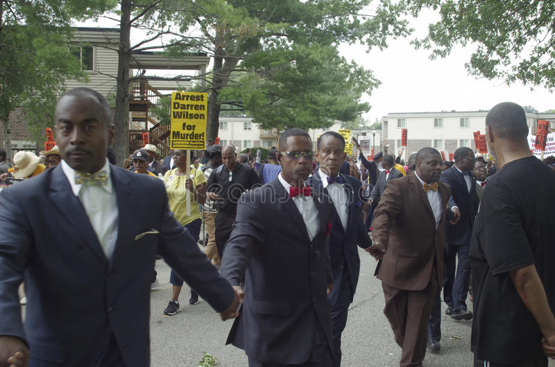 Marche de paix pour Michael Brown photos libres de droits