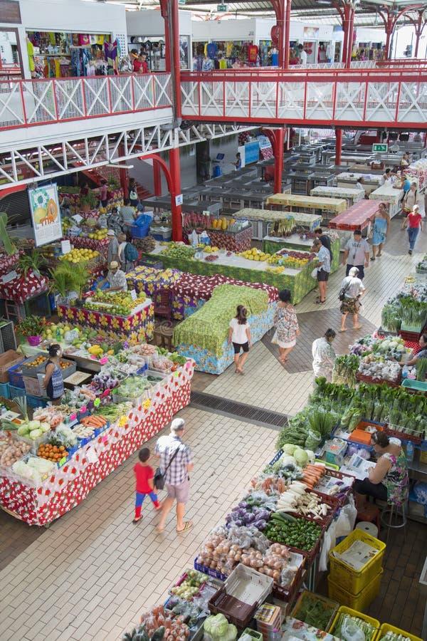 Marche de Pape'ete (αγορά Pape'ete), Pape'ete, Ταϊτή, γαλλική Πολυνησία στοκ φωτογραφία με δικαίωμα ελεύθερης χρήσης