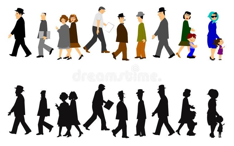 Marche de personnes illustration libre de droits