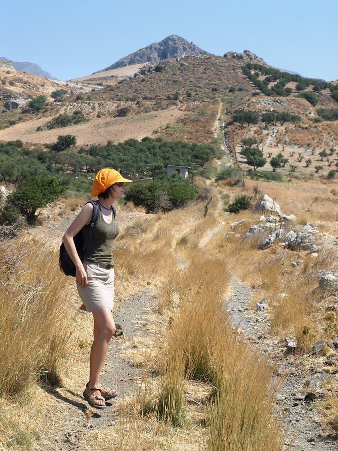 Marche en Crète photographie stock