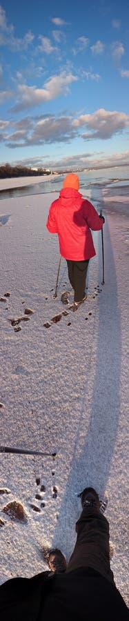 Marche nordique photographie stock libre de droits