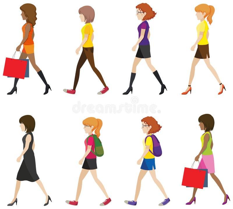 Marche sans visage de dames illustration libre de droits