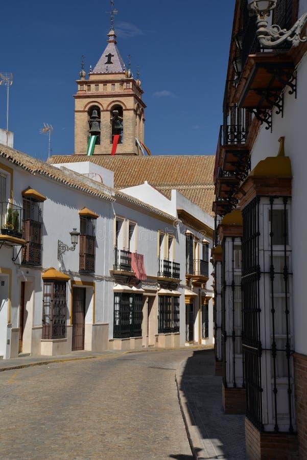 Marchena Andalusia, Spanien central gata arkivfoto