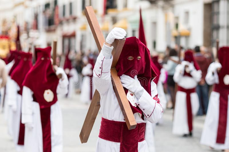 Procession of Holy Week in Marchena, Seville stock image