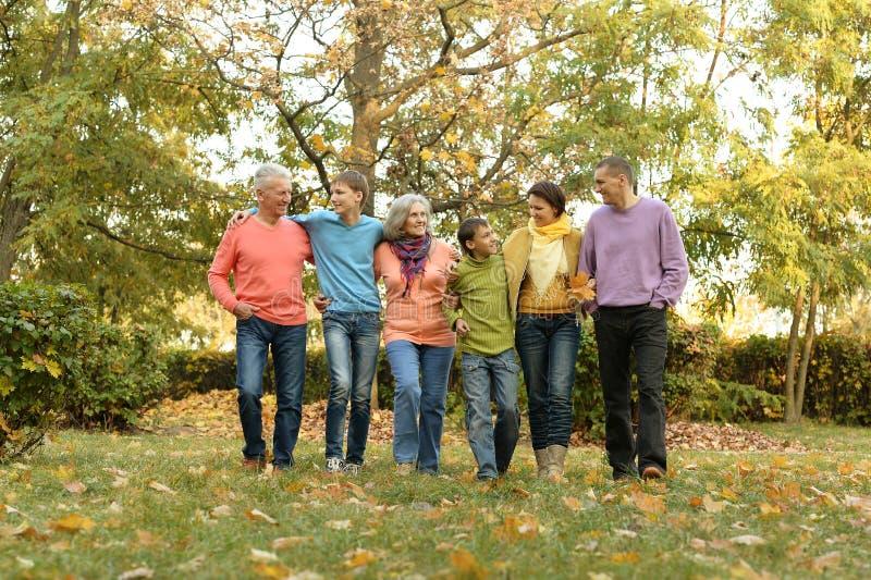 Marchent une famille nombreuse photos stock