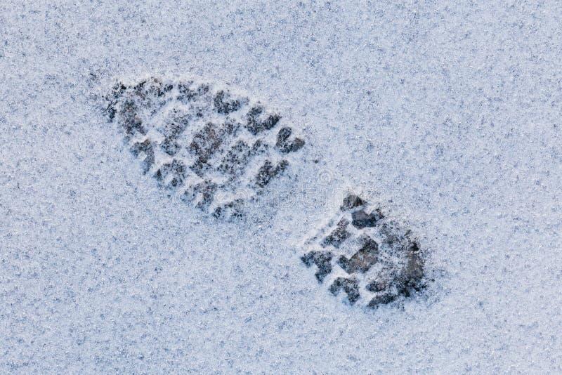 Marchepied sur la neige photos stock