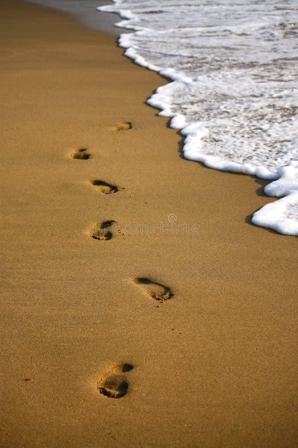 Marchepied sur la plage indienne arénacée photos libres de droits