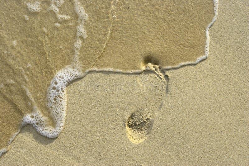 Marchepied sur le sable 5 images stock