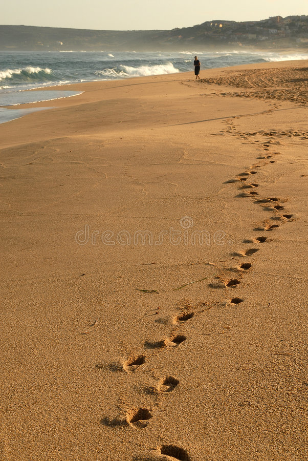 Marchepieds dans la plage photos stock