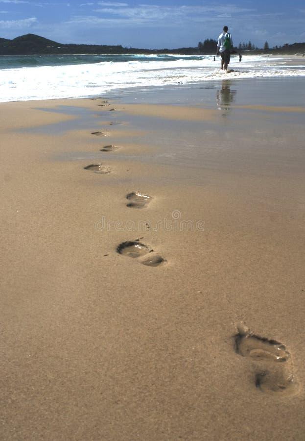 Marchepieds de plage photographie stock