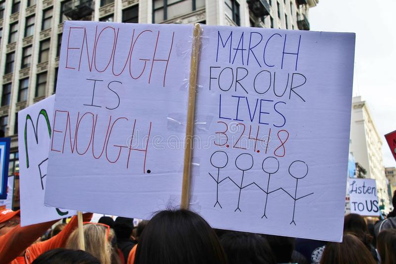 March For Our Lives 2018 royalty free stock photo