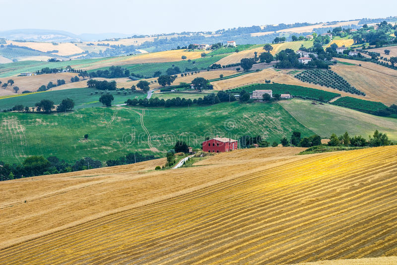 Download Marches (Italy), landscape stock photo. Image of panoramic - 28774768