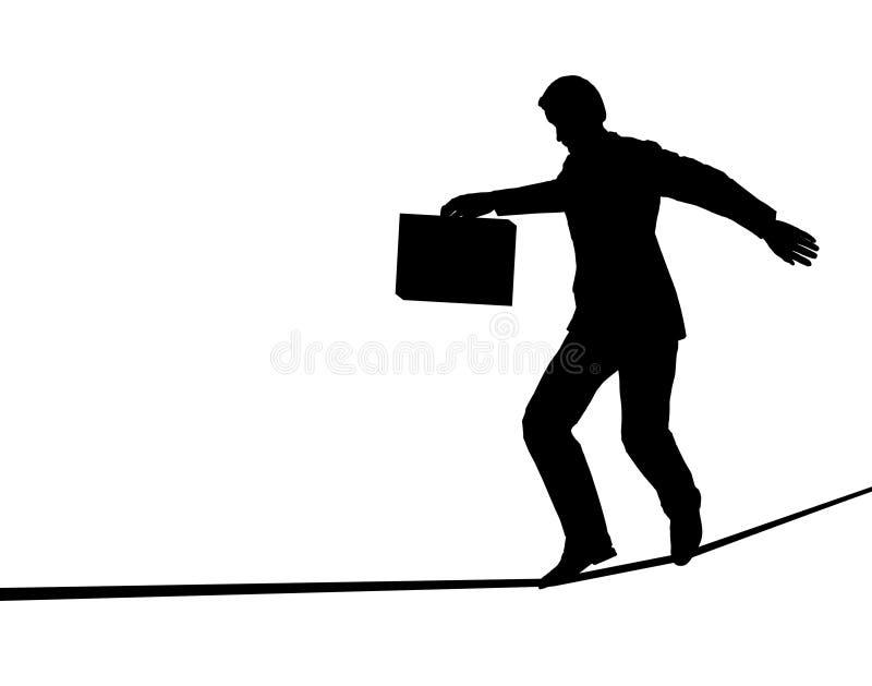 marcheur de corde raide illustration stock