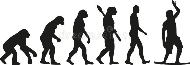 Marcheur de fil d'évolution de Slackline illustration stock