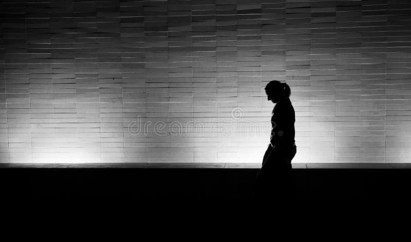 Marcheur de nuit images libres de droits