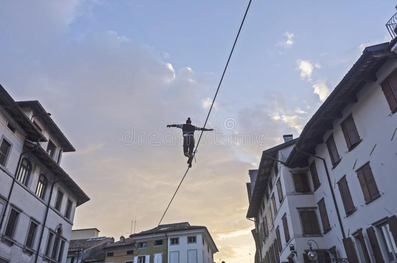 Marcheur de Tightrope images libres de droits
