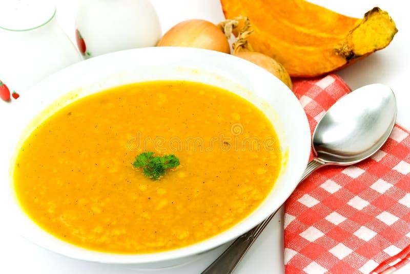 marchew zielone gorącą zupę garnek grochową dyni zdjęcia royalty free