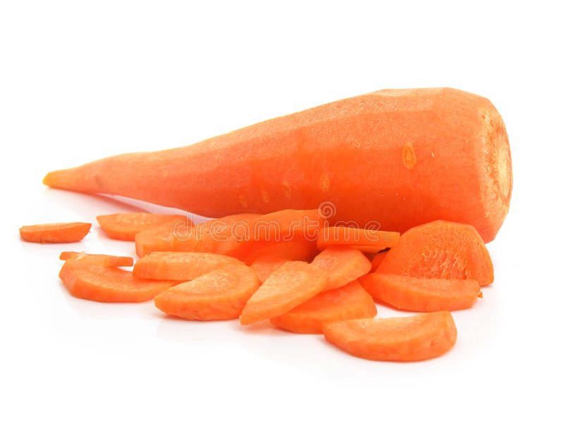 marchewa oczyścili pojedynczy warzyw zdjęcia stock