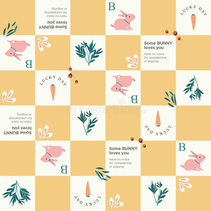 Marchewka Niektóre królik miłość ty deseniujesz z marchewką i liśćmi royalty ilustracja