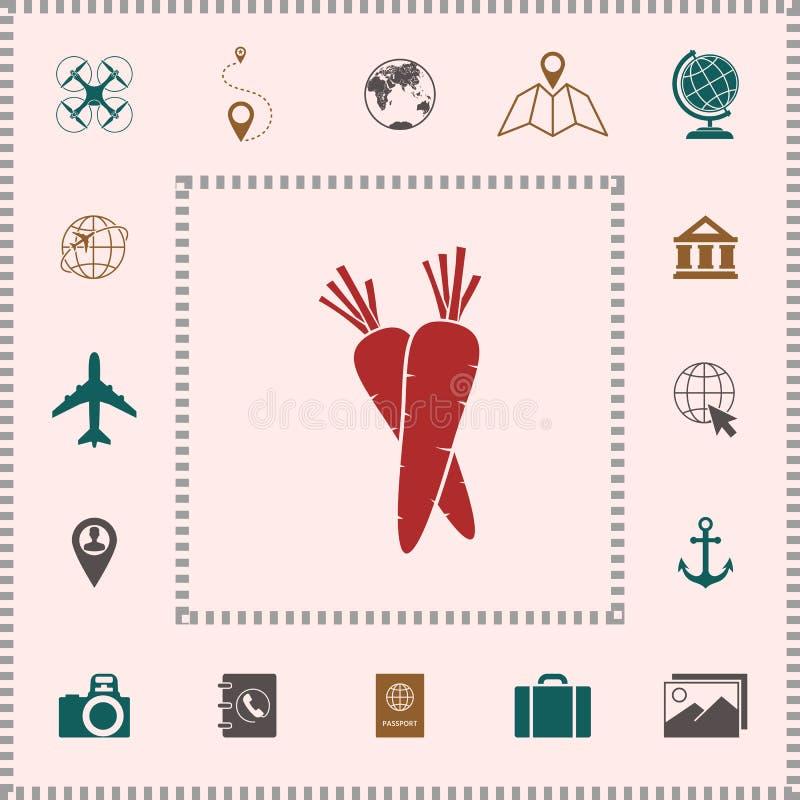 Marchewka symbolu ikona royalty ilustracja