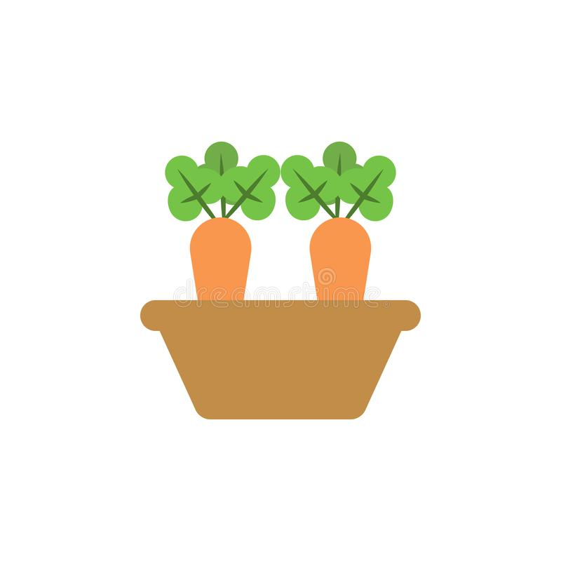marchewki barwiona ikona Element barwiona jesieni ikona dla mobilnych pojęcia i sieci apps Barwiona marchwiana ikona może używać  ilustracji