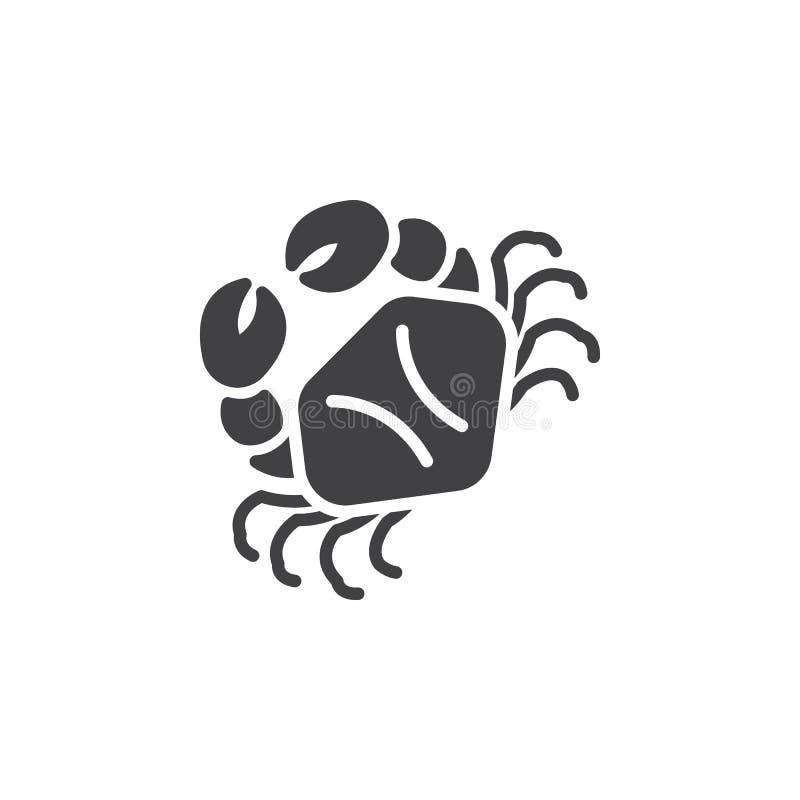 Marchez en crabe le vecteur d'icône, signe plat rempli, pictogramme solide d'isolement sur le blanc illustration stock