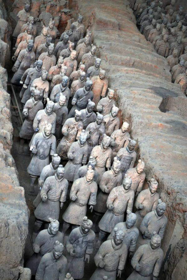 Marchez plus près des guerriers de terre cuite dans XI le `, Chine Il ` s par t photos stock