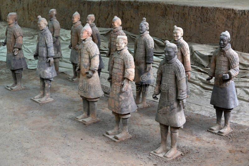Marchez plus près des guerriers de terre cuite dans XI le `, Chine Il ` s par t photo libre de droits