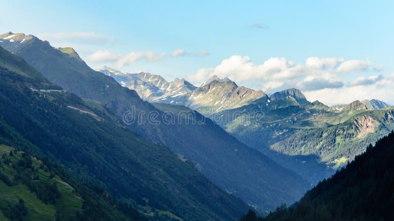 Marchhorn y Corno Gries, Suiza foto de archivo libre de regalías