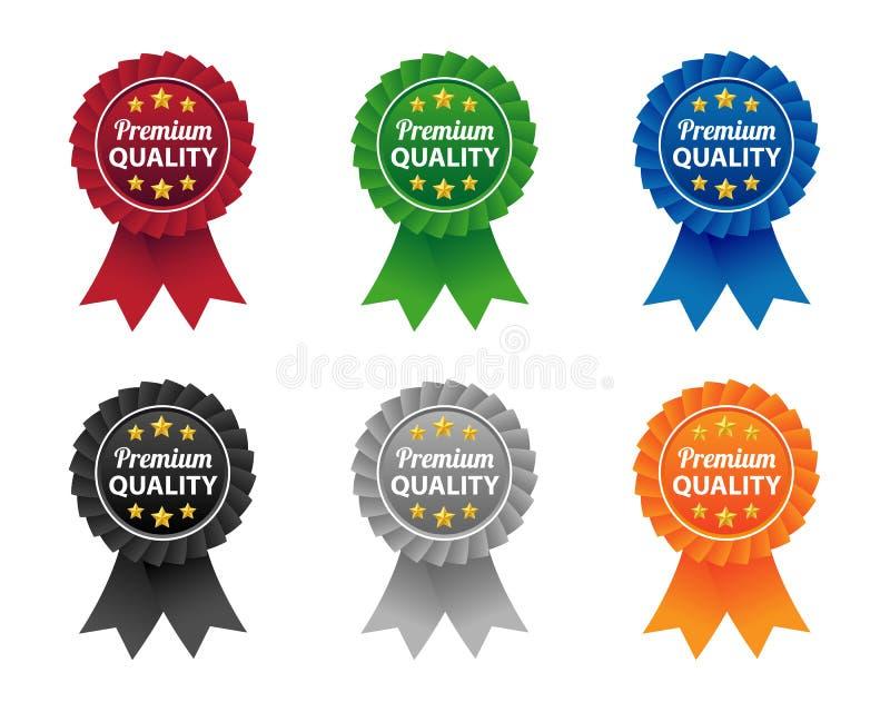 Marchi di qualità premio illustrazione di stock