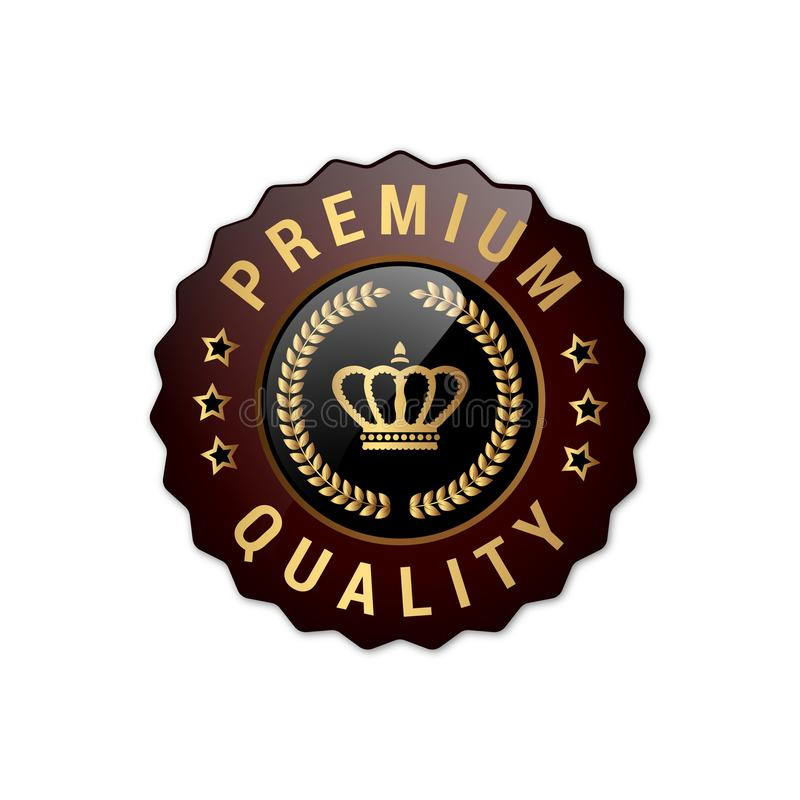Marchi di qualità premio con la corona fotografie stock