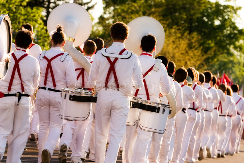 Download Marching Band stock image. Image of people, drums, flag - 2447225