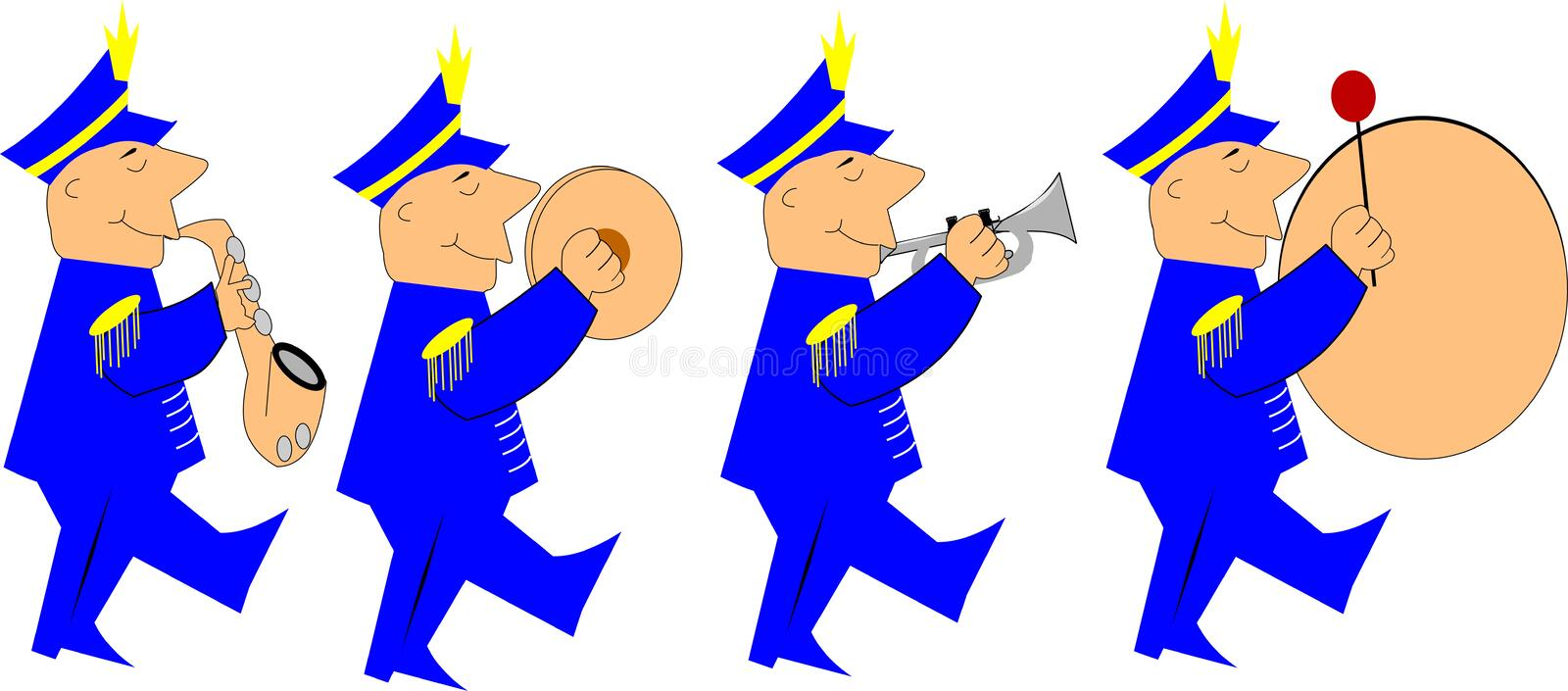 Marching band royalty free illustration