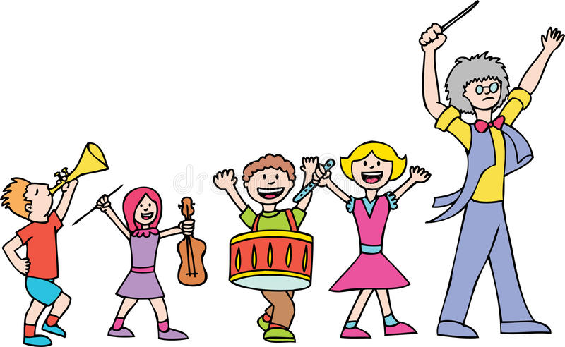 Marching Band royalty free illustration