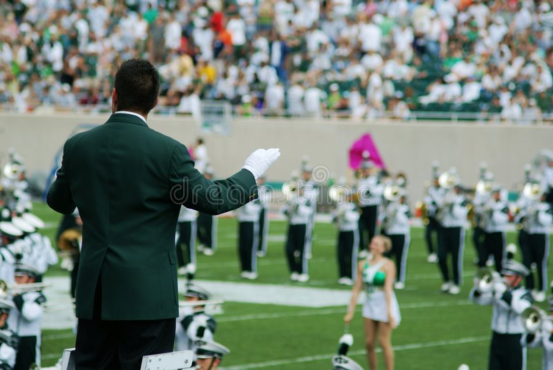 Marching Band Conductor Editorial Stock Image