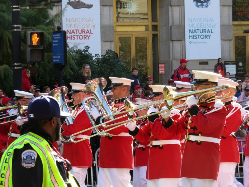 Marching Band on Constitution Avenue stock photo