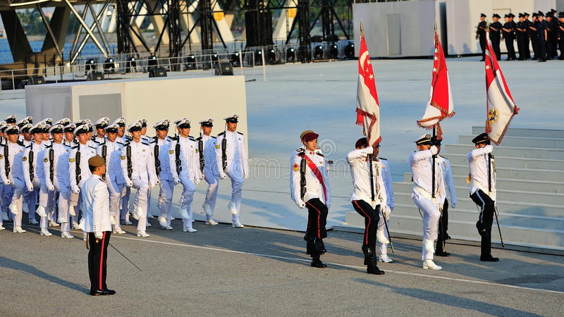 Download Marching In Of Colours Party During NDP 2012 Editorial Photo - Image of color, force: 26632751