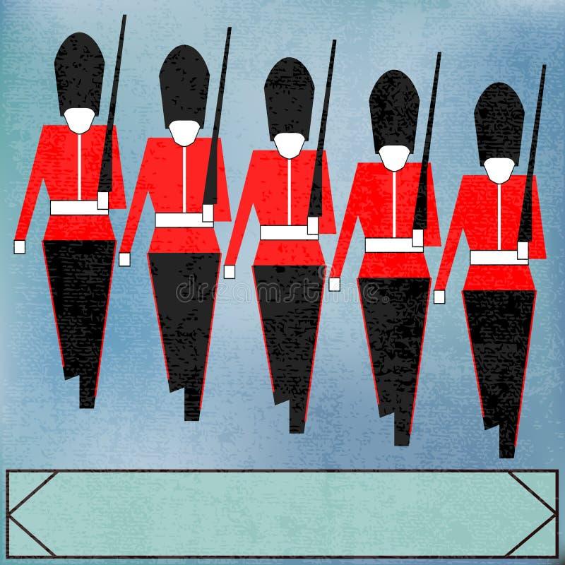 Download Marching Guardsmen stock vector. Illustration of grenadier - 23486596