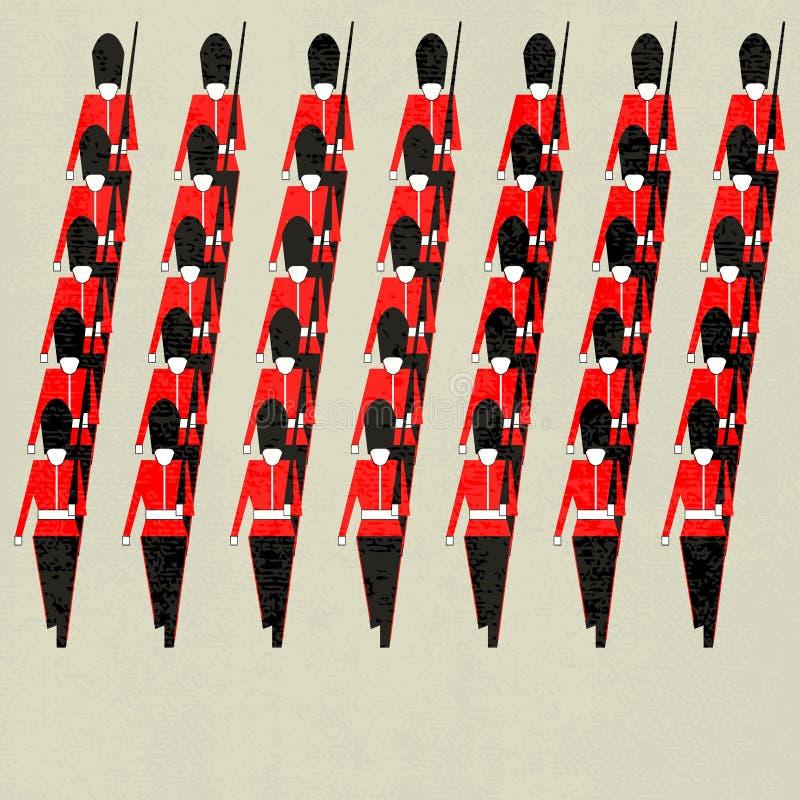 Marching Guardsmen royalty free illustration