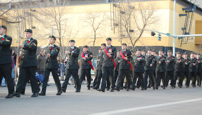 Marching Soldiers Editorial Stock Image