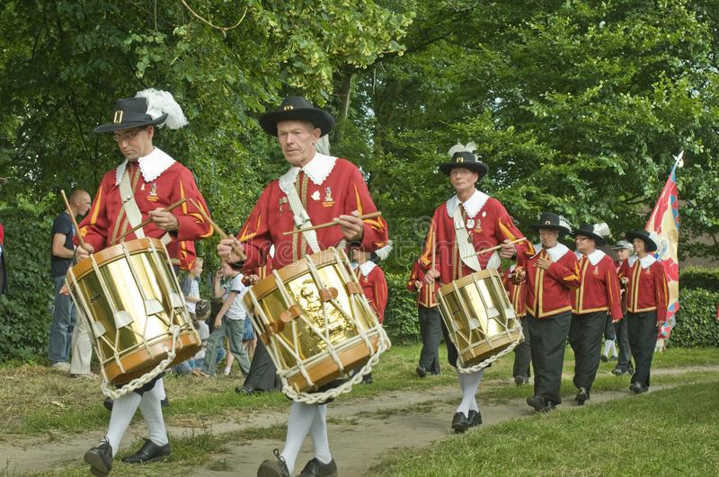 Traditional guild music band. royalty free stock image