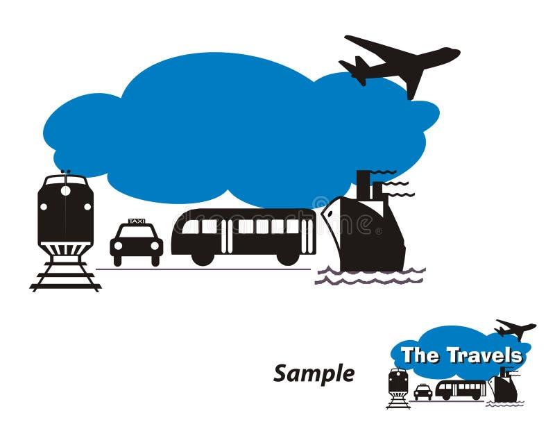 Marchio - agenzia di viaggi illustrazione vettoriale