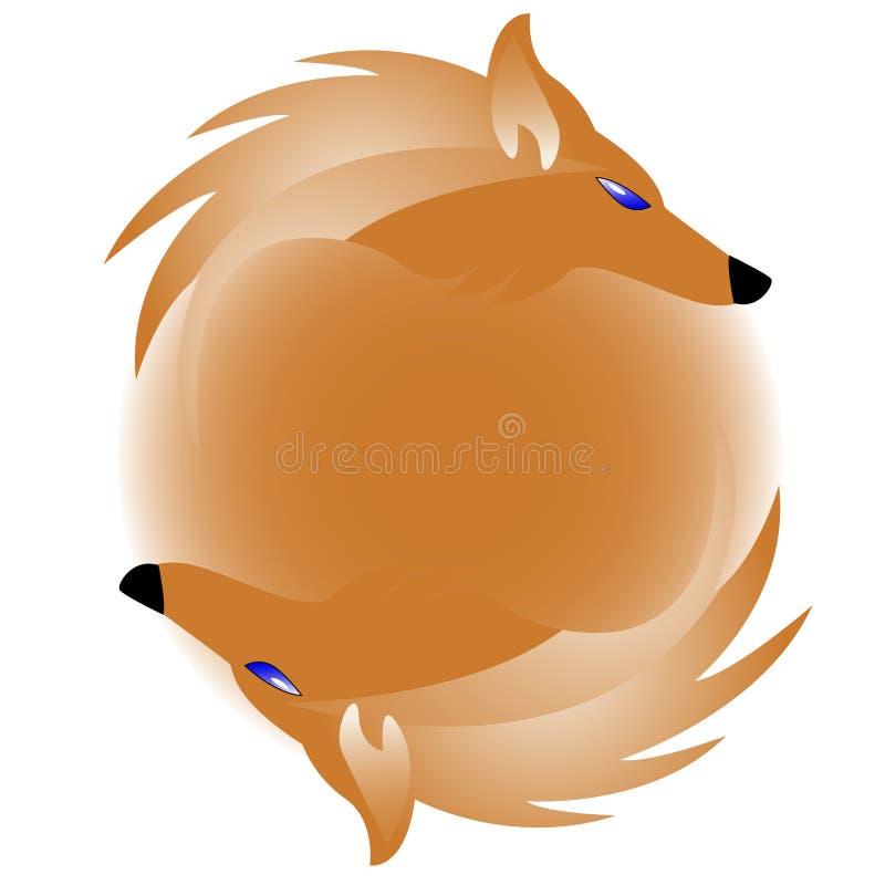 Marchio con la volpe illustrazione vettoriale