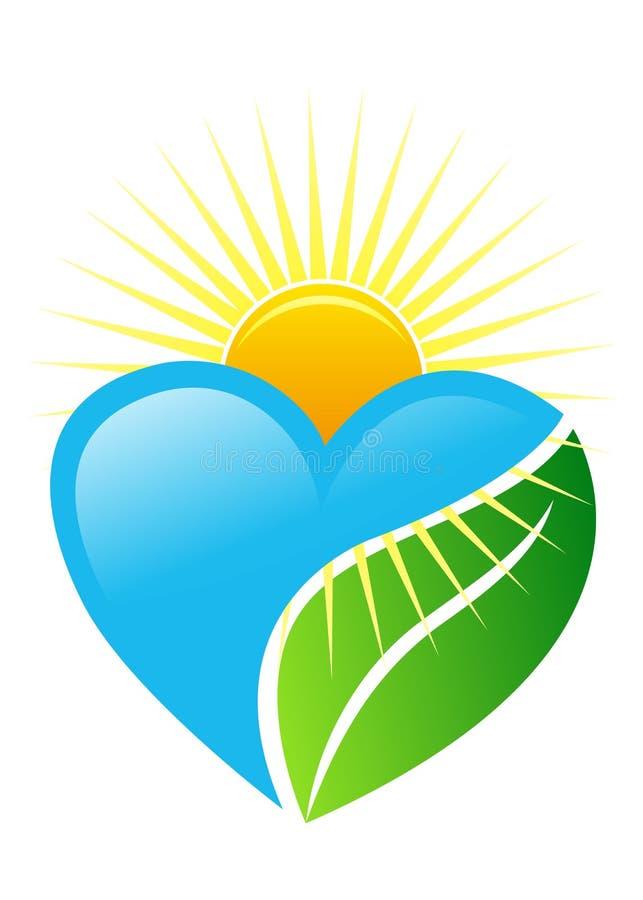 Marchio del cuore illustrazione vettoriale