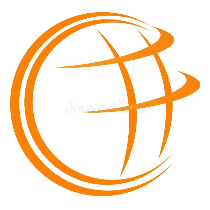 Marchio del globo illustrazione vettoriale
