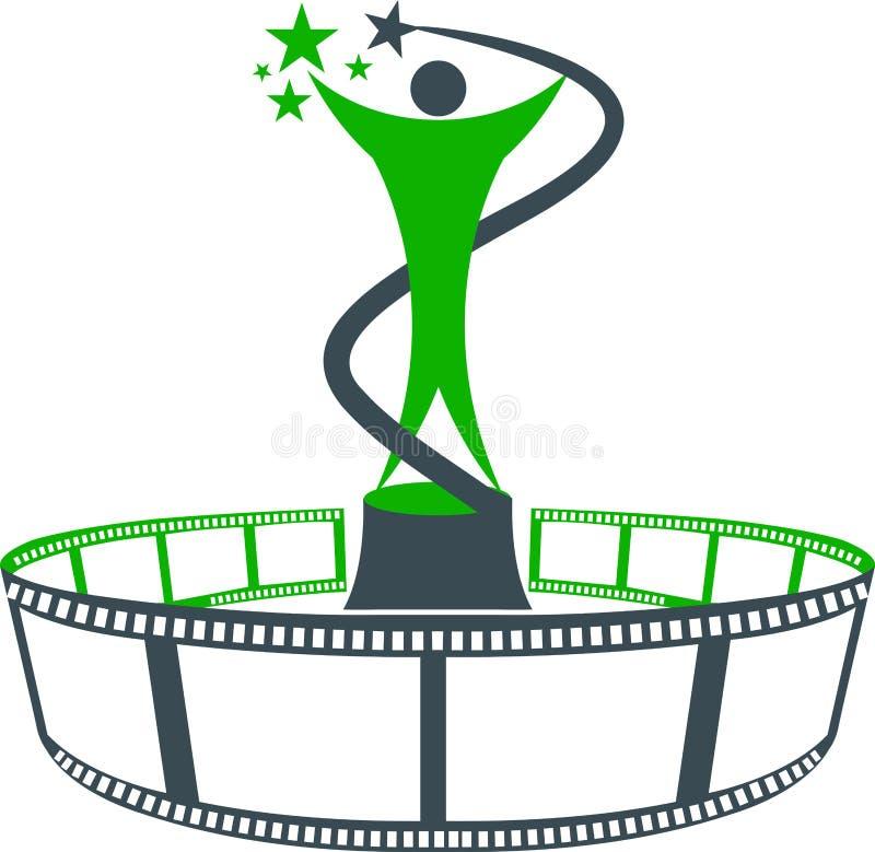 Marchio del premio della pellicola illustrazione vettoriale