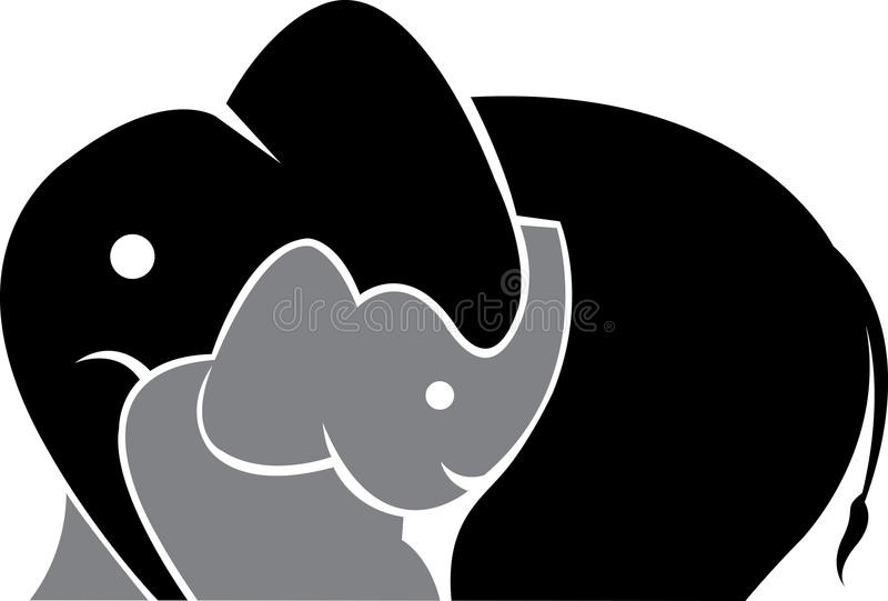 Marchio dell'elefante illustrazione di stock