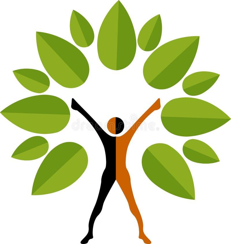 Marchio dell'uomo dell'albero illustrazione vettoriale