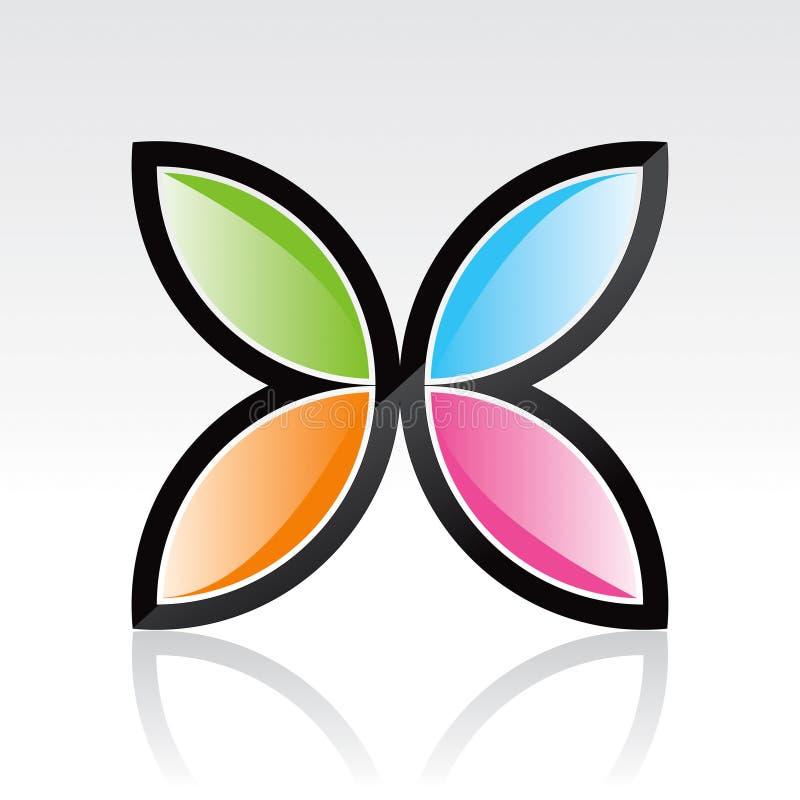 Marchio della farfalla illustrazione di stock